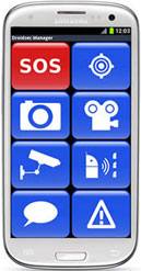 Designed with Police for front line law enforcement and security professionals. Simple one touch large button controls to launch voice calls, text messaging, SOS Alerts, photo and video capture, minimising mistakes and improving speed. Photo and video - one touch image capture and automatic upload to a secure server with time, date stamps and GPS location for use in evidence. Officers and Agents are enabled to spend more time on the ground and less time dealing with administrative processes.